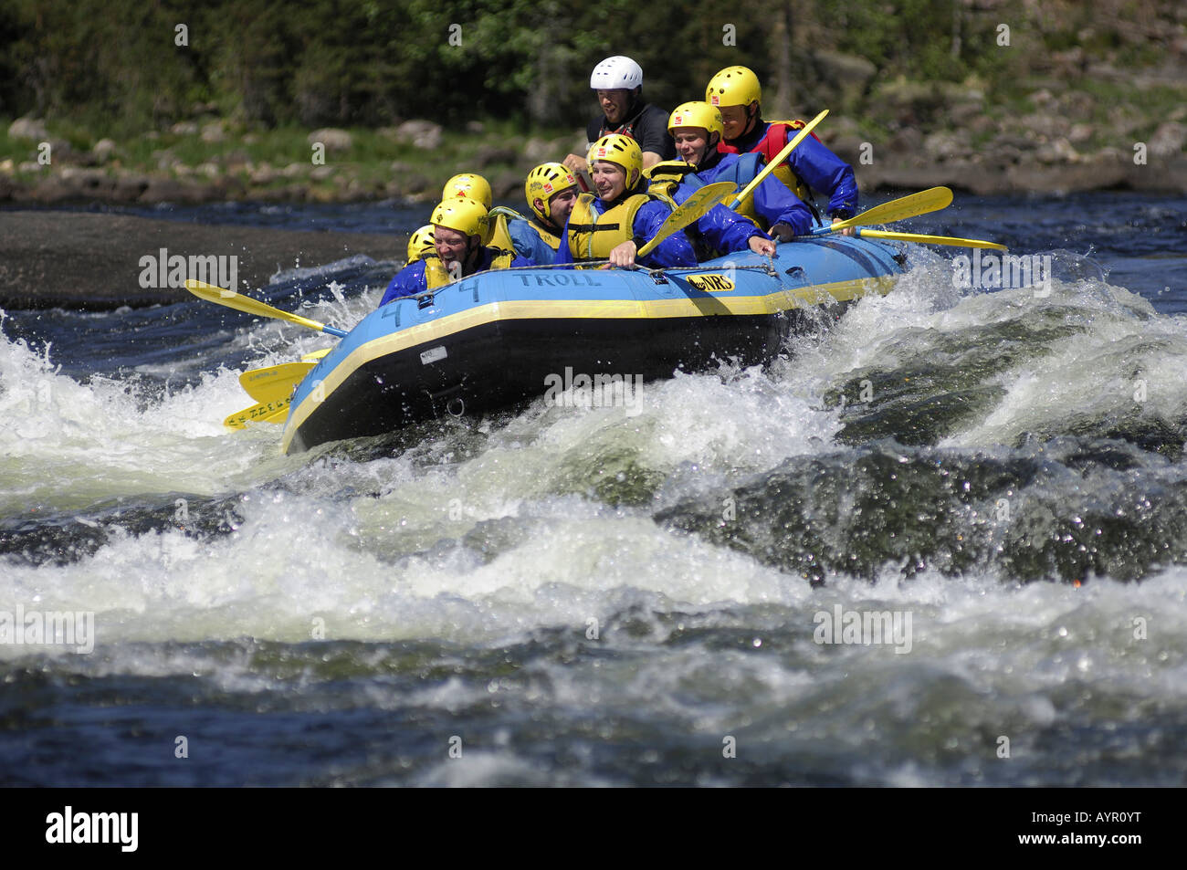 Whitewater rafting, Telemark, Norway - Stock Image