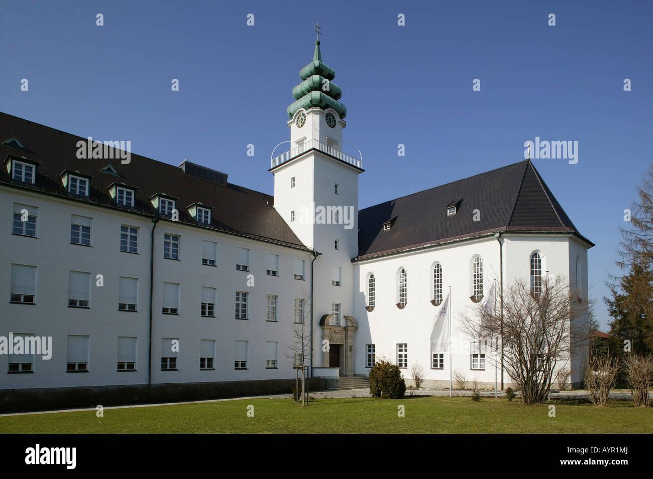 St. Michael's Seminary, alumni include Pope Benedict XVI, Traunstein, Upper Bavaria, Bavaria, Germany, Europe Stock Photo