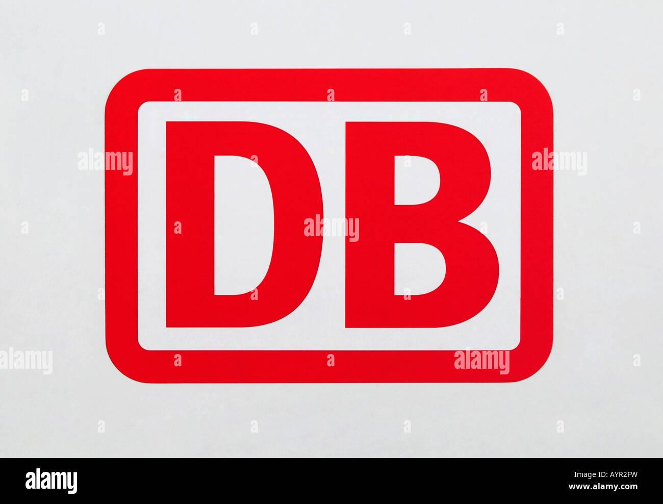 Deutsche Bahn, DB (German Rail) logo - Stock Image