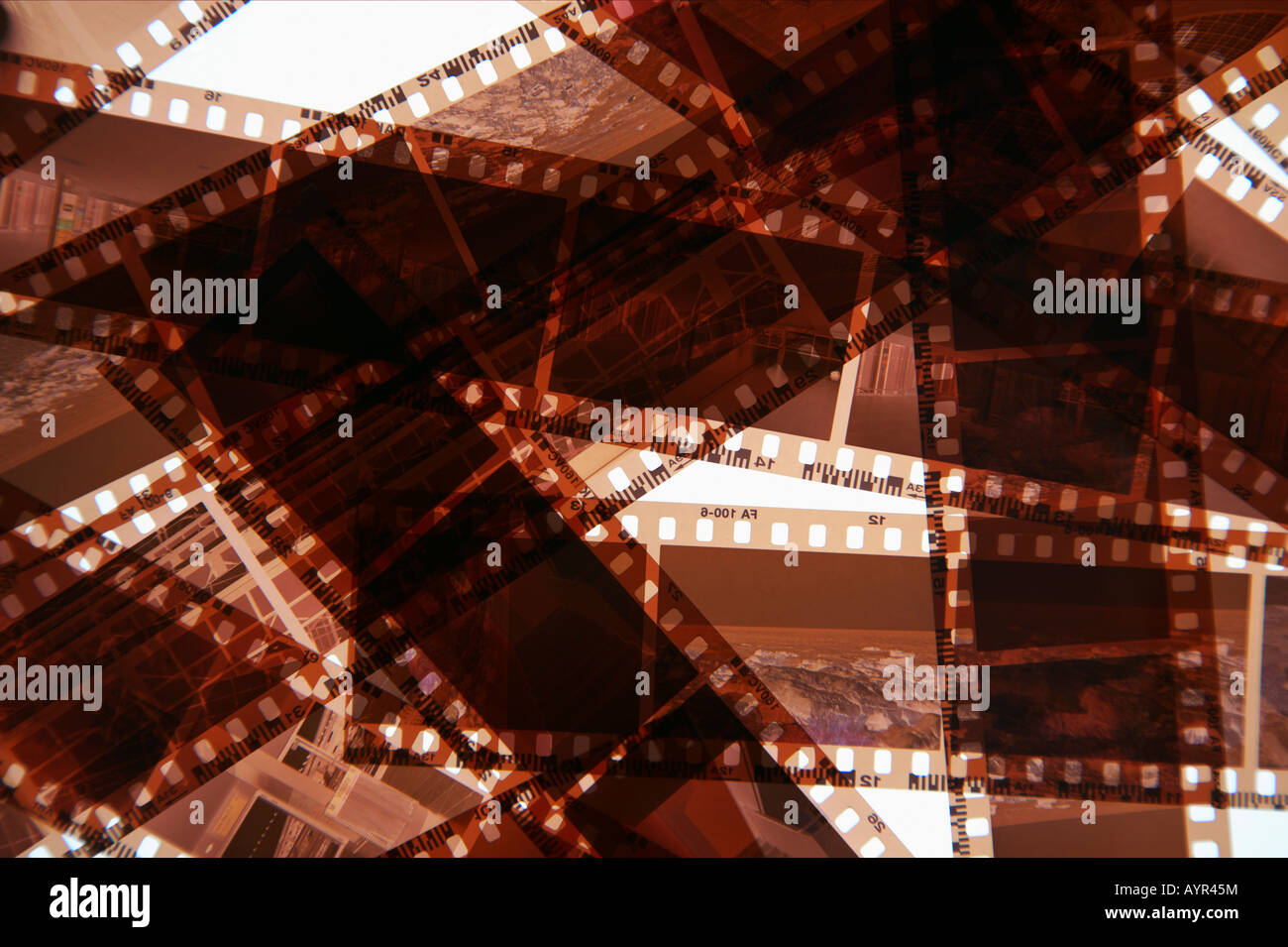 Negative stripes - Stock Image