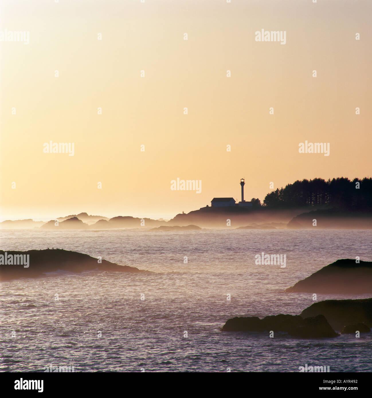 Lennard Island Lighthouse Stock Photos & Lennard Island