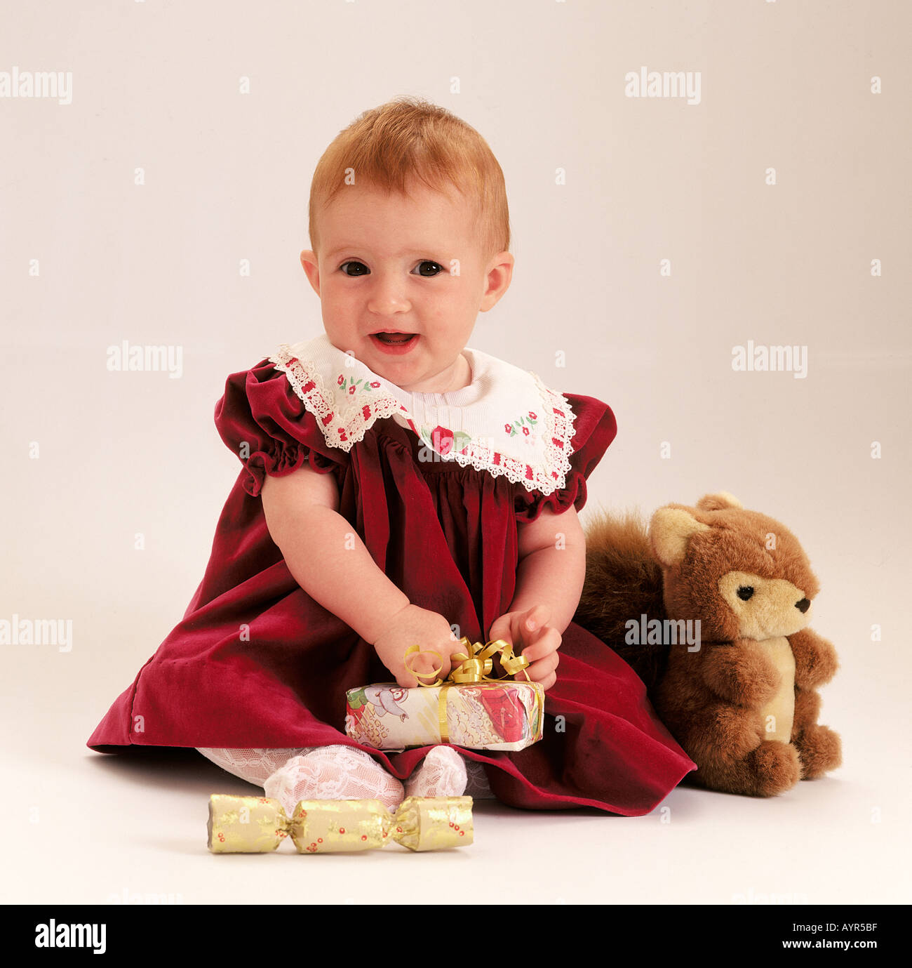 First Birthday presents for a one year old little girl Stock Photo