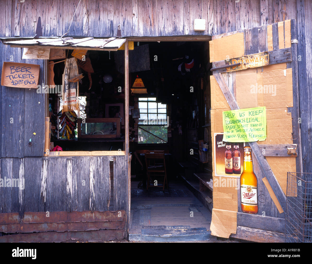 US Post Office Luckenbach Texas USA. Photo by Willy Matheisl - Stock Image