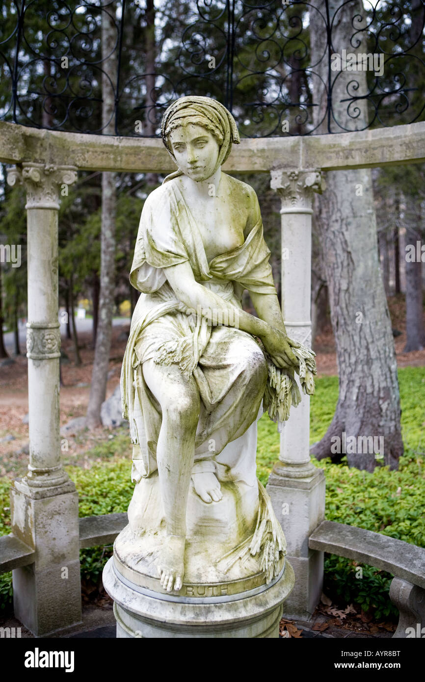 A classic Greek or Roman Style statue at the The Stamford Museum & Nature Center in Stamford Connecticut USA Stock Photo