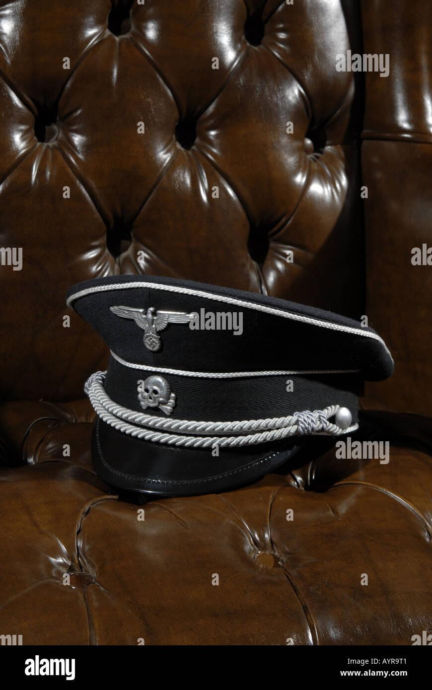 Gestapo hat - Stock Image