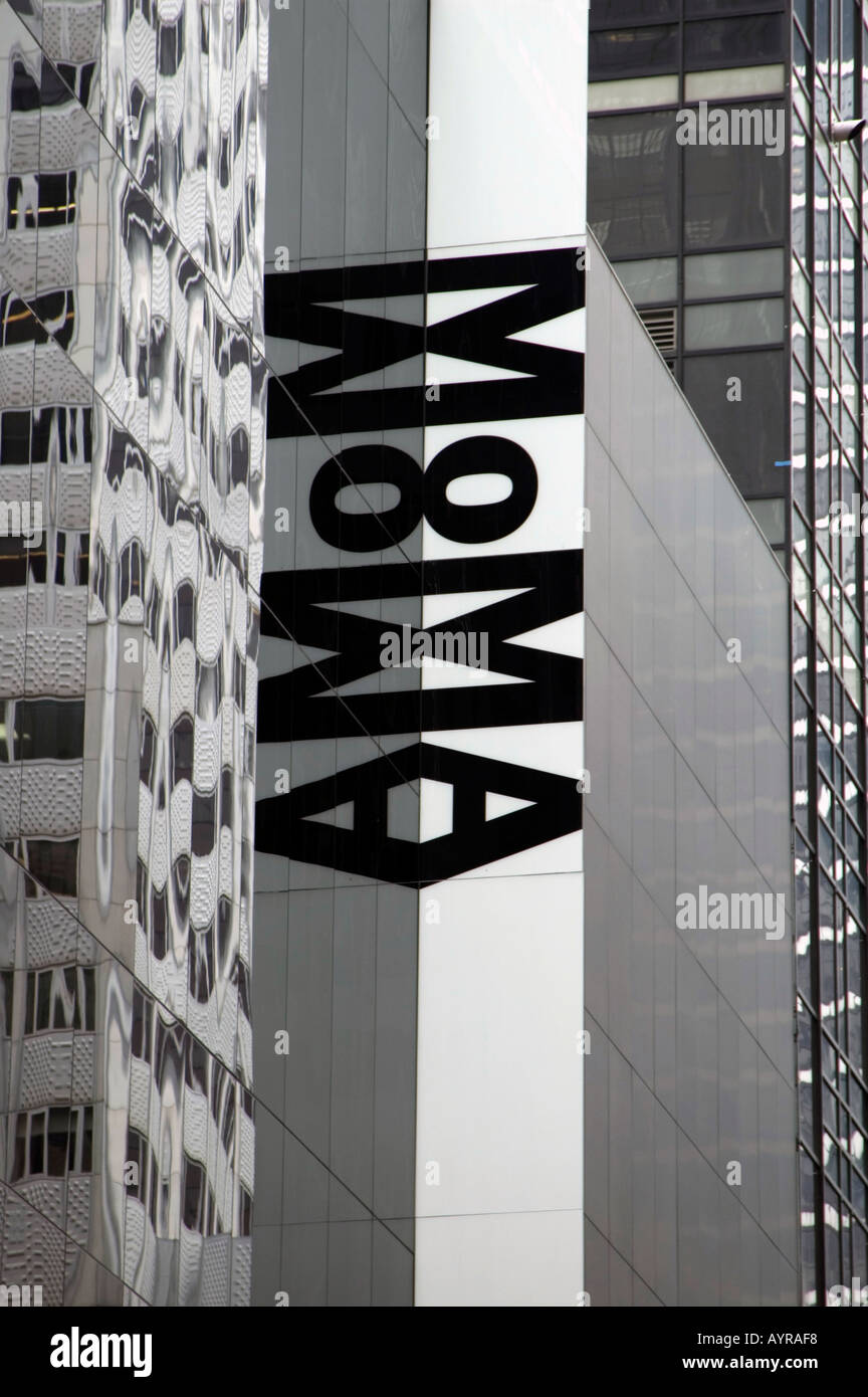 MOMA MUSEUM OF MODERN ART MIDTOWN MANHATTAN NEW YORK CITY UNITED STATES OF AMERICA USA - Stock Image