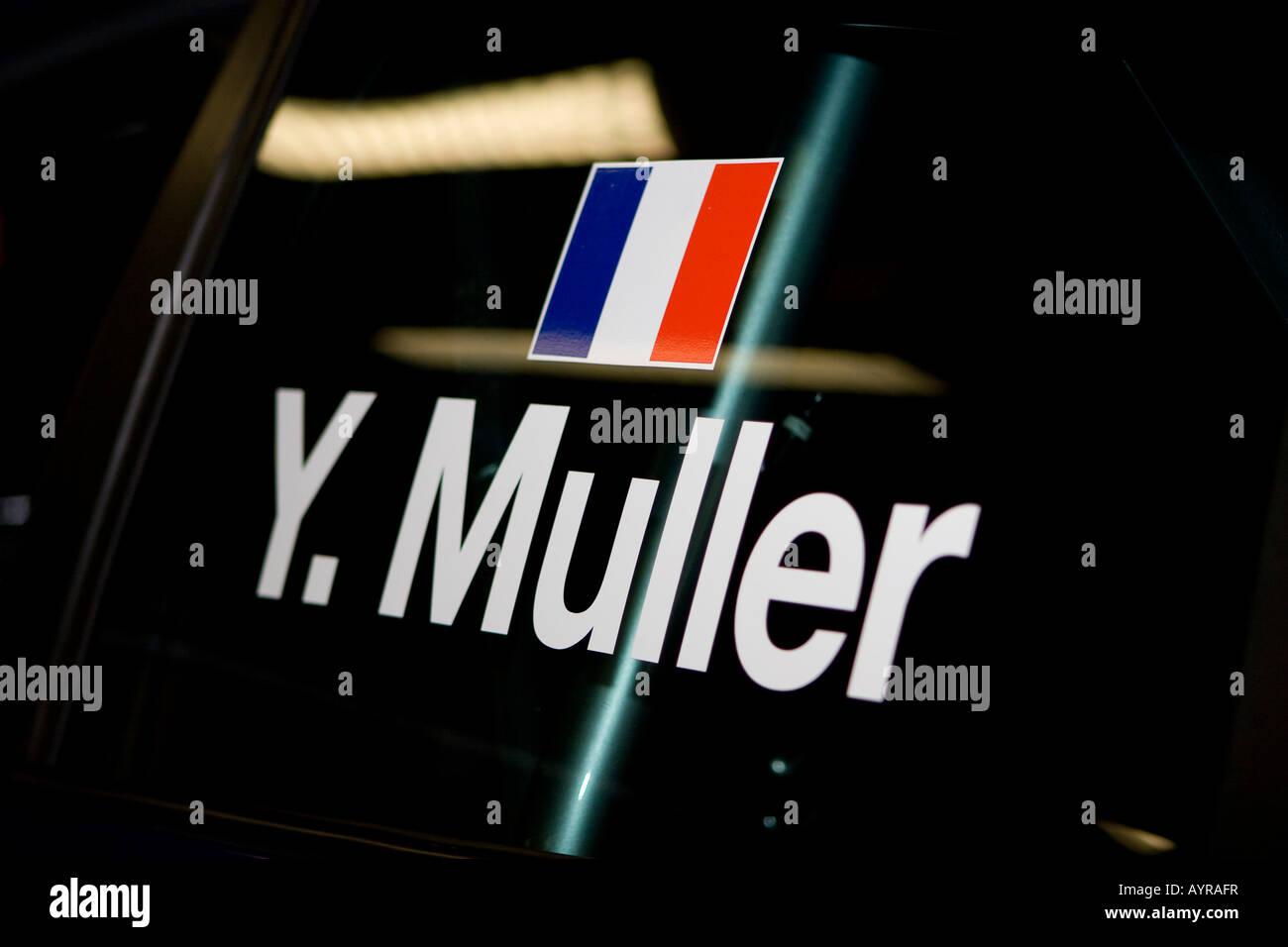 Yvan Muller's race car - Stock Image