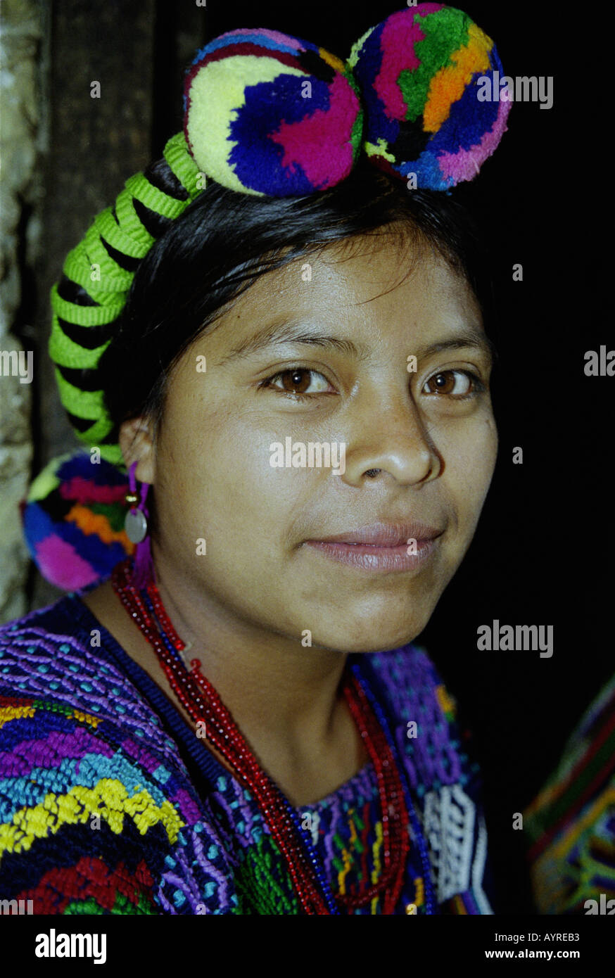 July 1997 Maya Ixil women in village of Chajul in north of Ixil Triangle El Quiche Guatemala James Sturcke - Stock Image