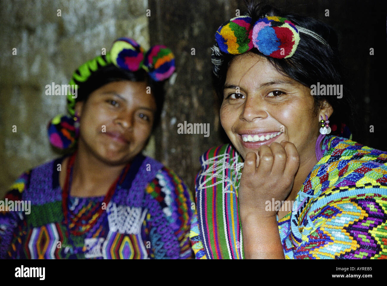 July 1997 Maya Ixil women in village of Chajul at the north of the Ixil triangle El Quiche Guatemala James Sturcke - Stock Image