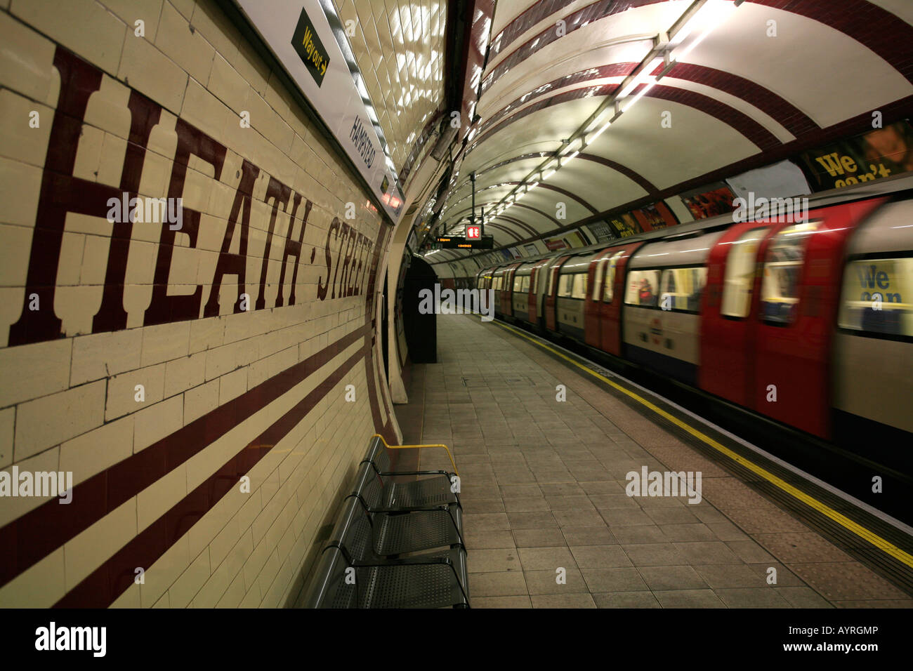 Hampstead tube station, London Underground, London, England, UK - Stock Image