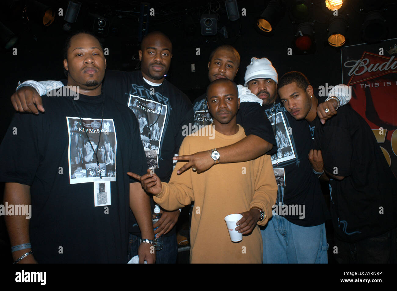 Rap Band, StreetKor, Columbus Ohio USA group photo - Stock Image