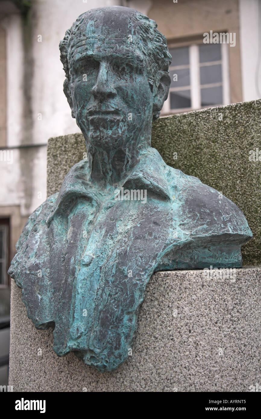 Bust of Amadeu Costa ethnographer Viana do Castelo Portugal - Stock Image