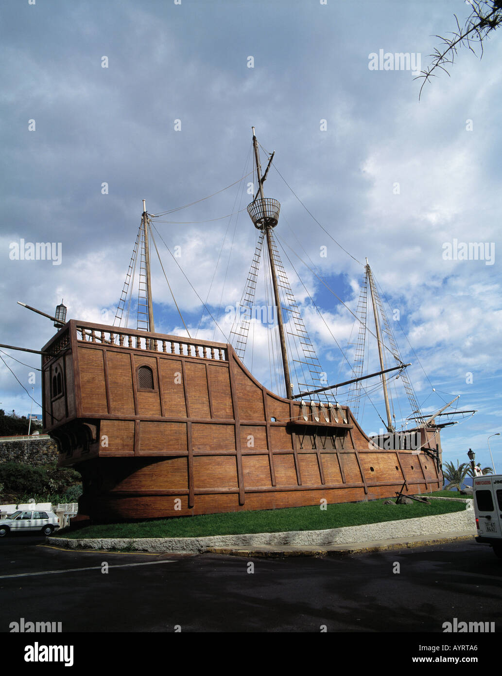 Kolumbus-Karavelle Santa Maria, Amerika-Entdecker, Schiffahrtsmuseum, Santa Cruz de la Palma, La Palma, Kanarische Stock Photo