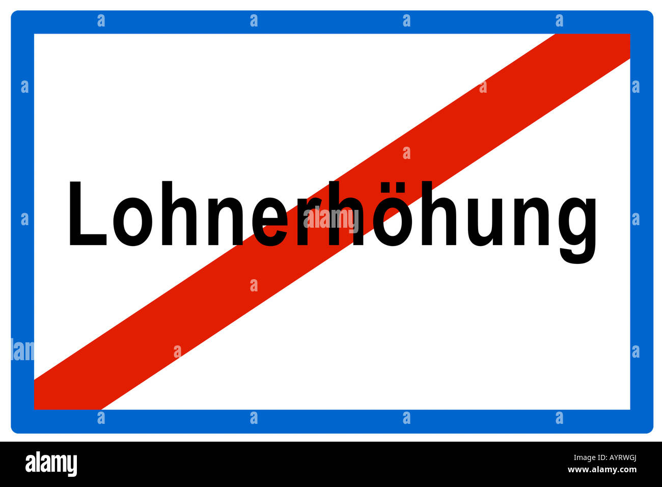 Symbolic picture, no more Lohnerhoehung (Ger. for wage hikes), and end to raised wages - Stock Image
