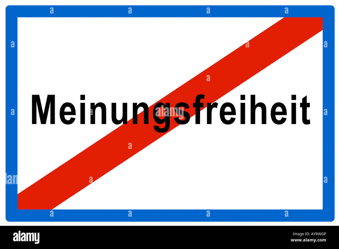 Symbolic picture, no more Meinungsfreiheit (Ger. for freedom of opinion) - Stock Image