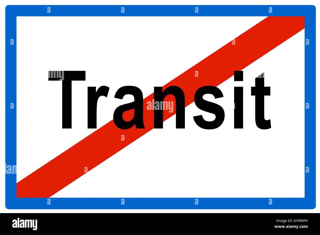 Symbolic picture, no more transit Stock Photo