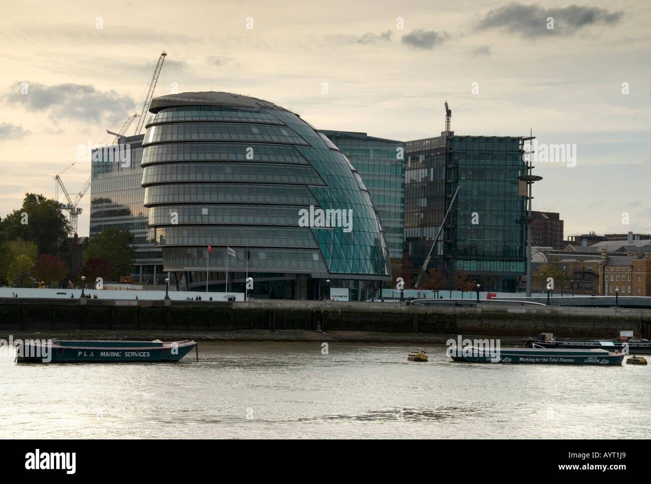 Greater London Authority City Hall (2002), near Tower Bridge, London, England UK - Stock Image