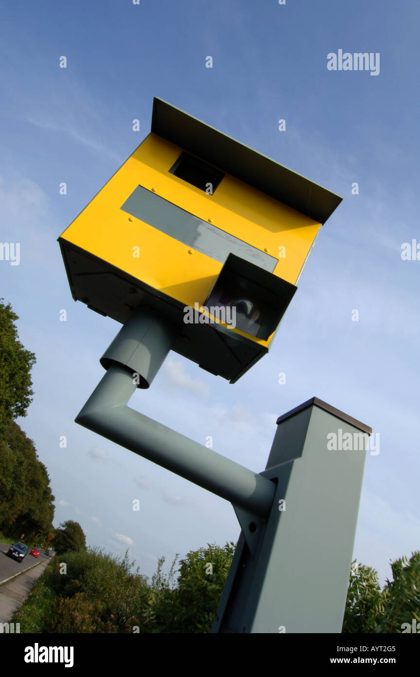 Fixed Speed Camera, Britain, UK - Stock Image