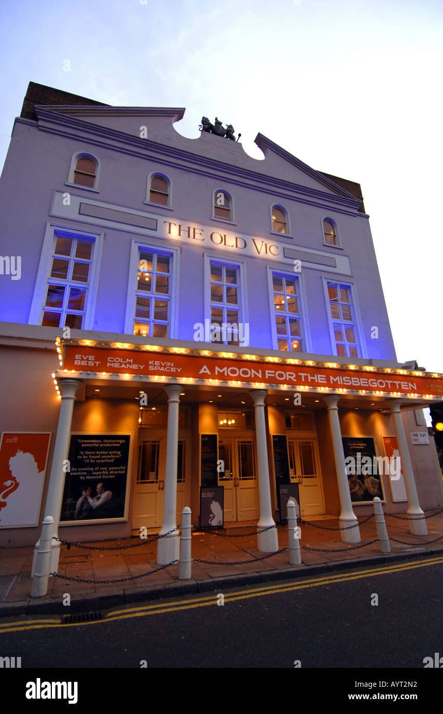 The Old Vic theatre, The Cut, Waterloo, London, UK - Stock Image