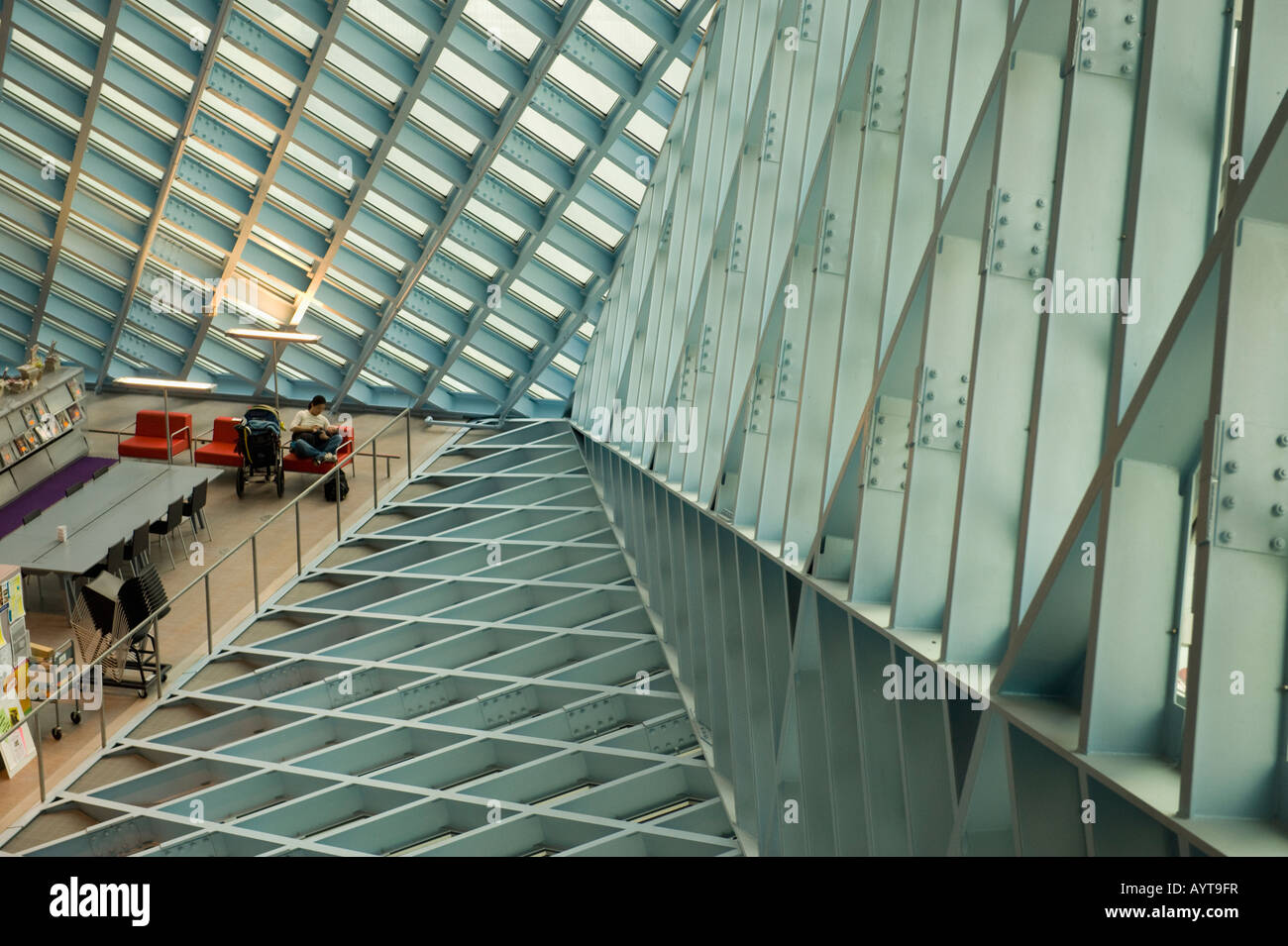 Seattle Central Library Designed by Rem Koolhaas 2004 Seattle Washington - Stock Image