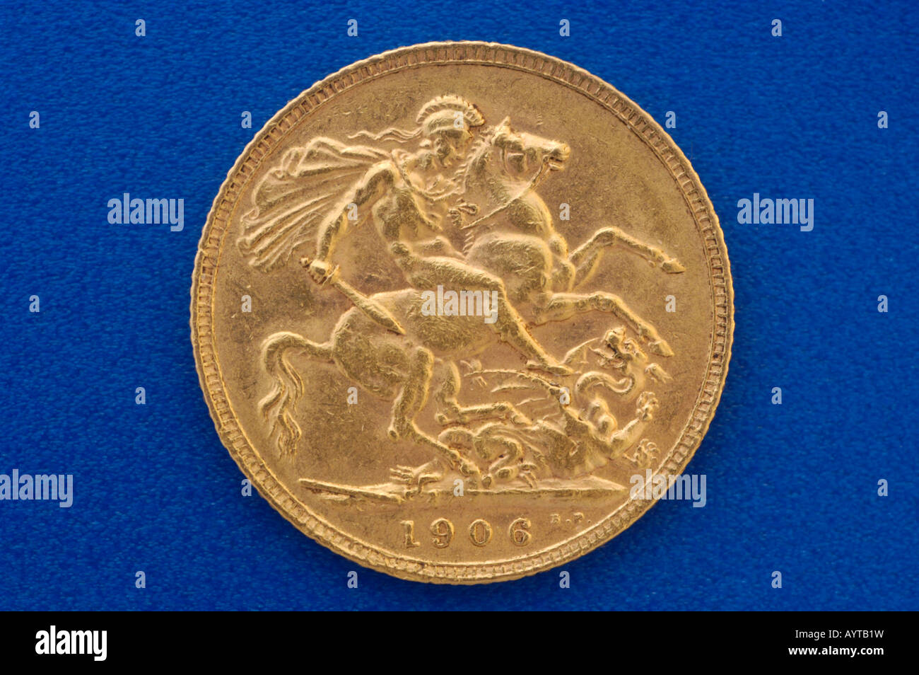 King Edward VII British empire gold coin from 1906 tail side