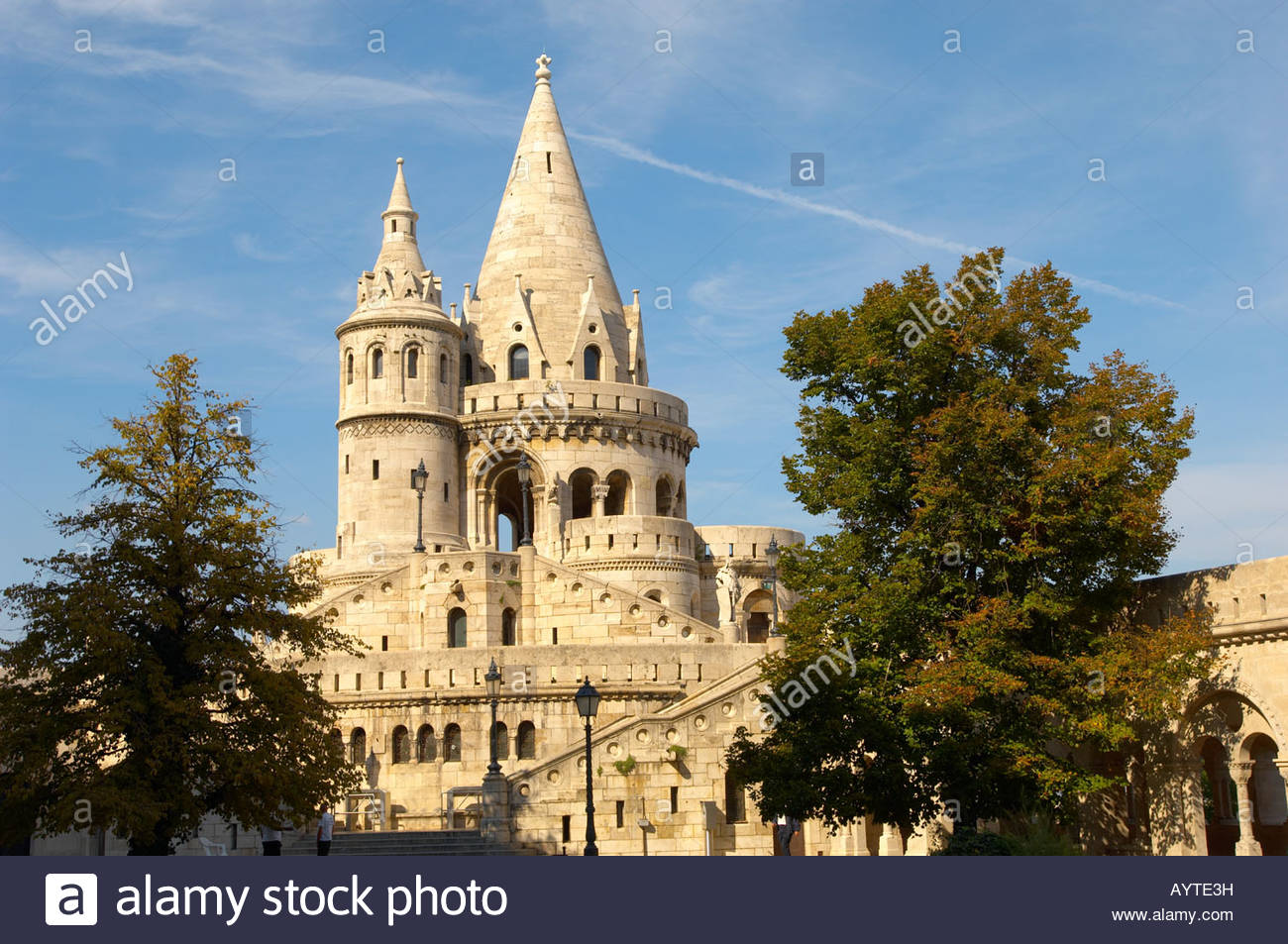 Fisherman's Bastion in the Castle District - Budapest Hungary - Stock Image
