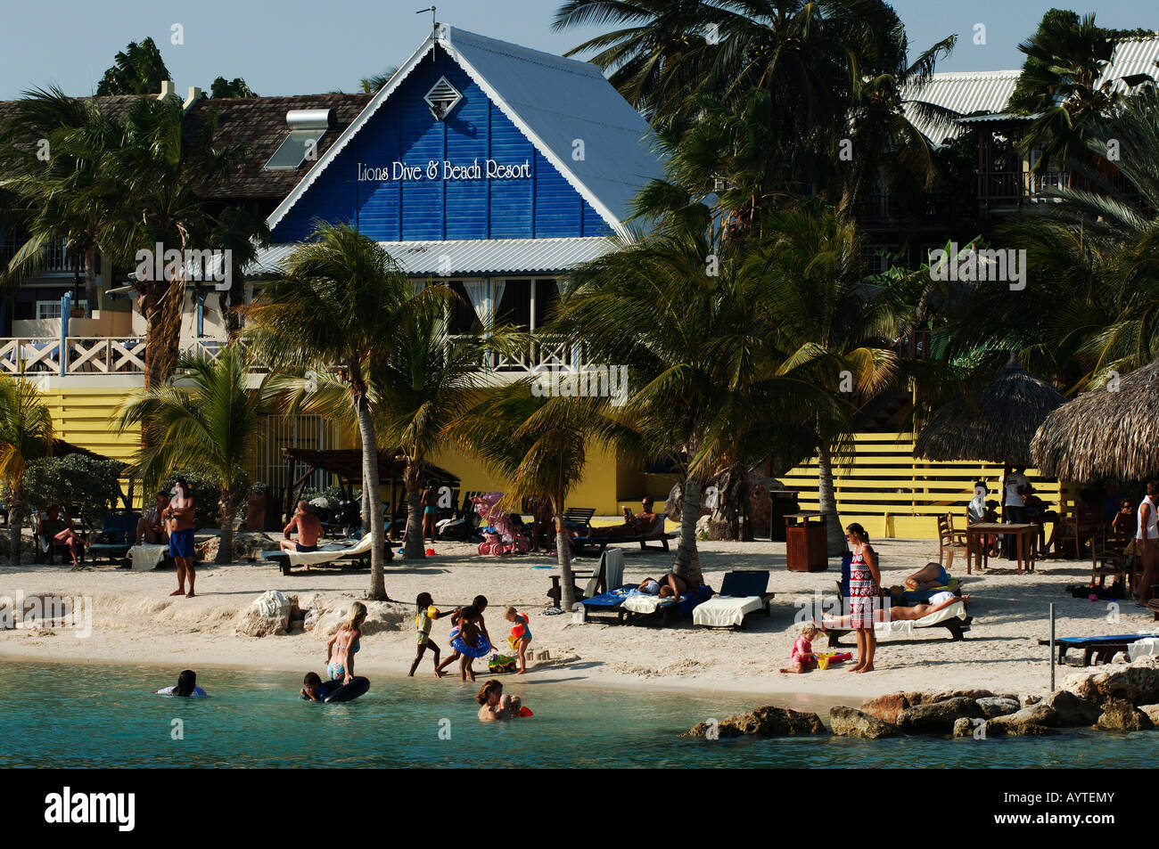 Netherlands antilles curacao the beach of the lions dive - Lions dive hotel curacao ...