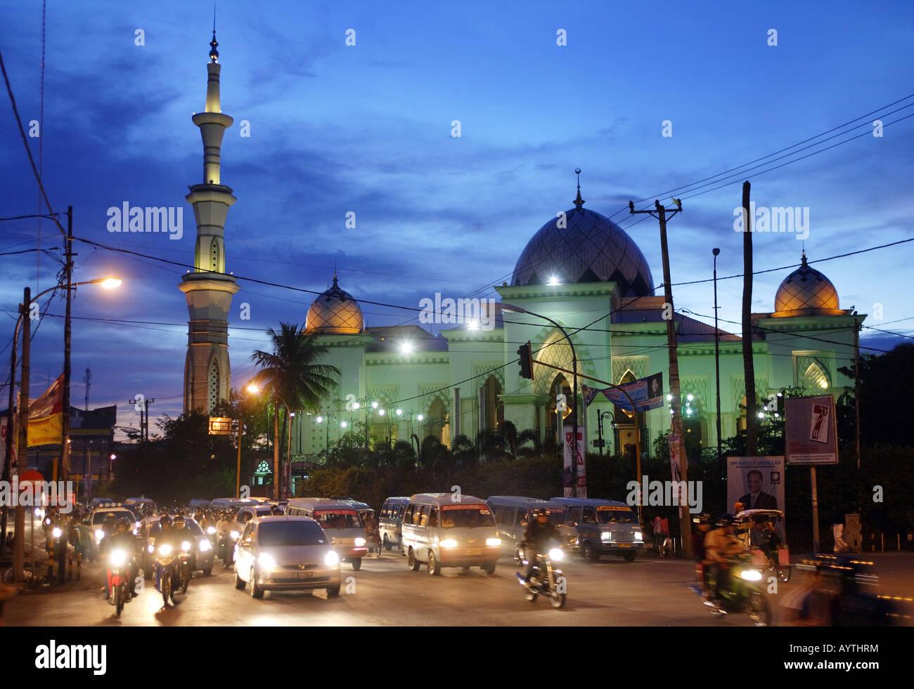 Indonesia: Masjid Raya Mosque in Makassar, Sulawesi Island - Stock Image