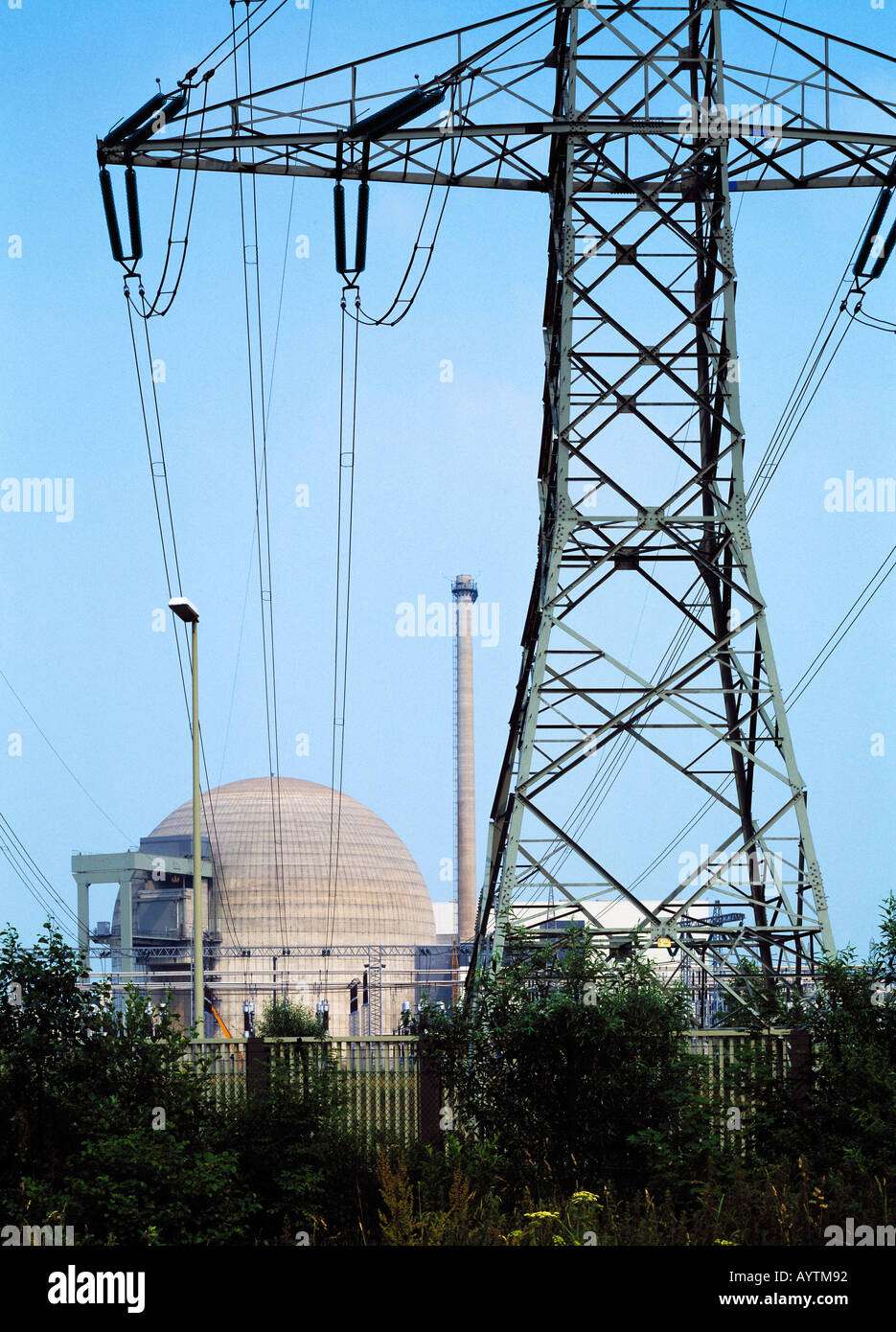 Kernkraftwerk Unterweser in Stadland-Rodenkirchen, Weser, Niedersachsen - Stock Image