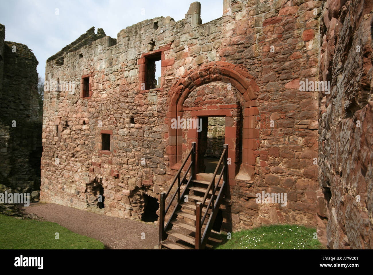 Hailes Castle near Haddington, East Lothian - Stock Image