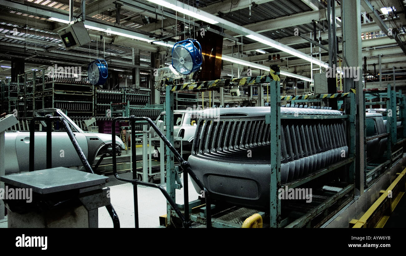 Mini being manufactured in the factory Stock Photo