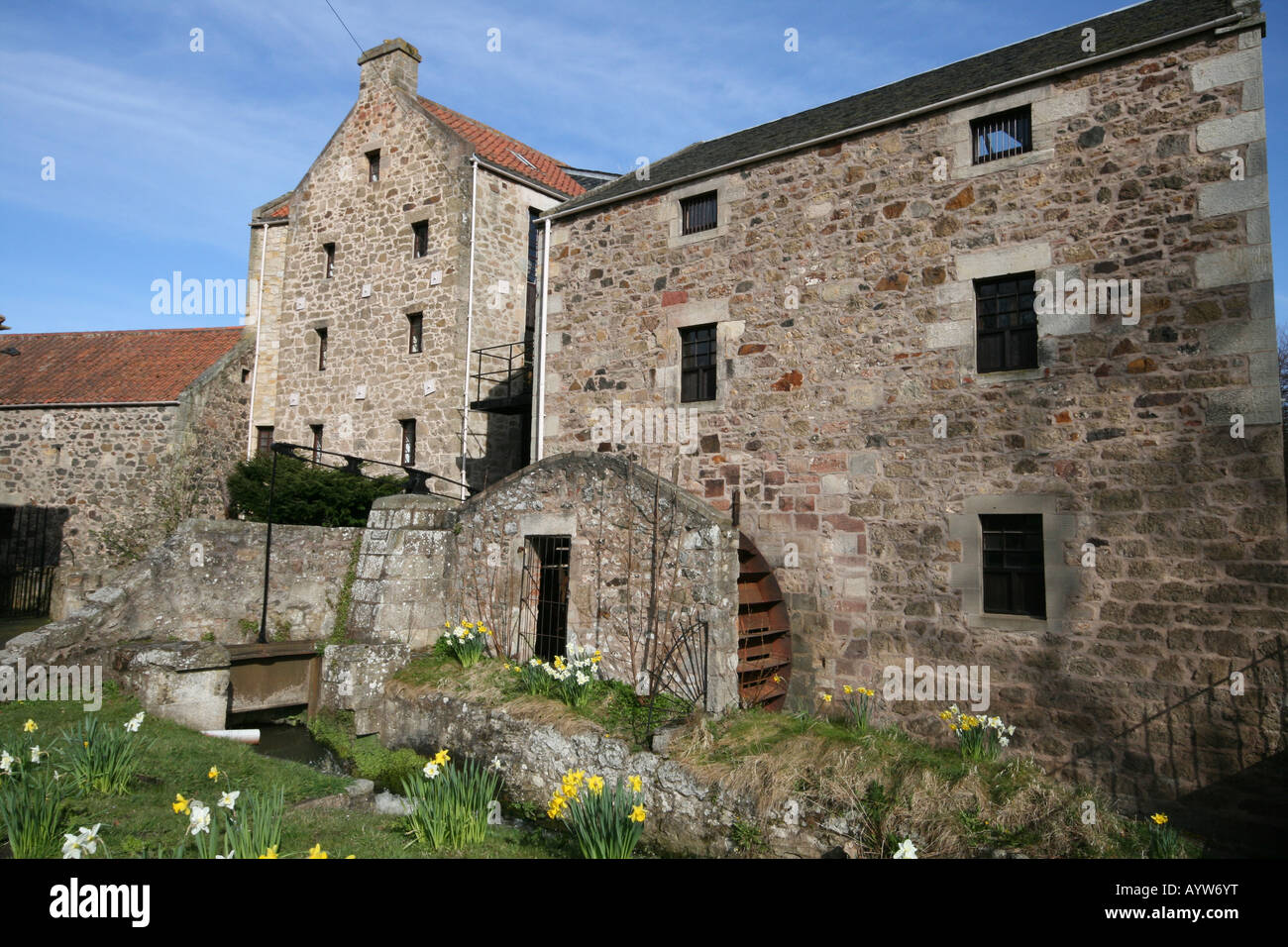 Old Poldrate Mill Haddington - Stock Image