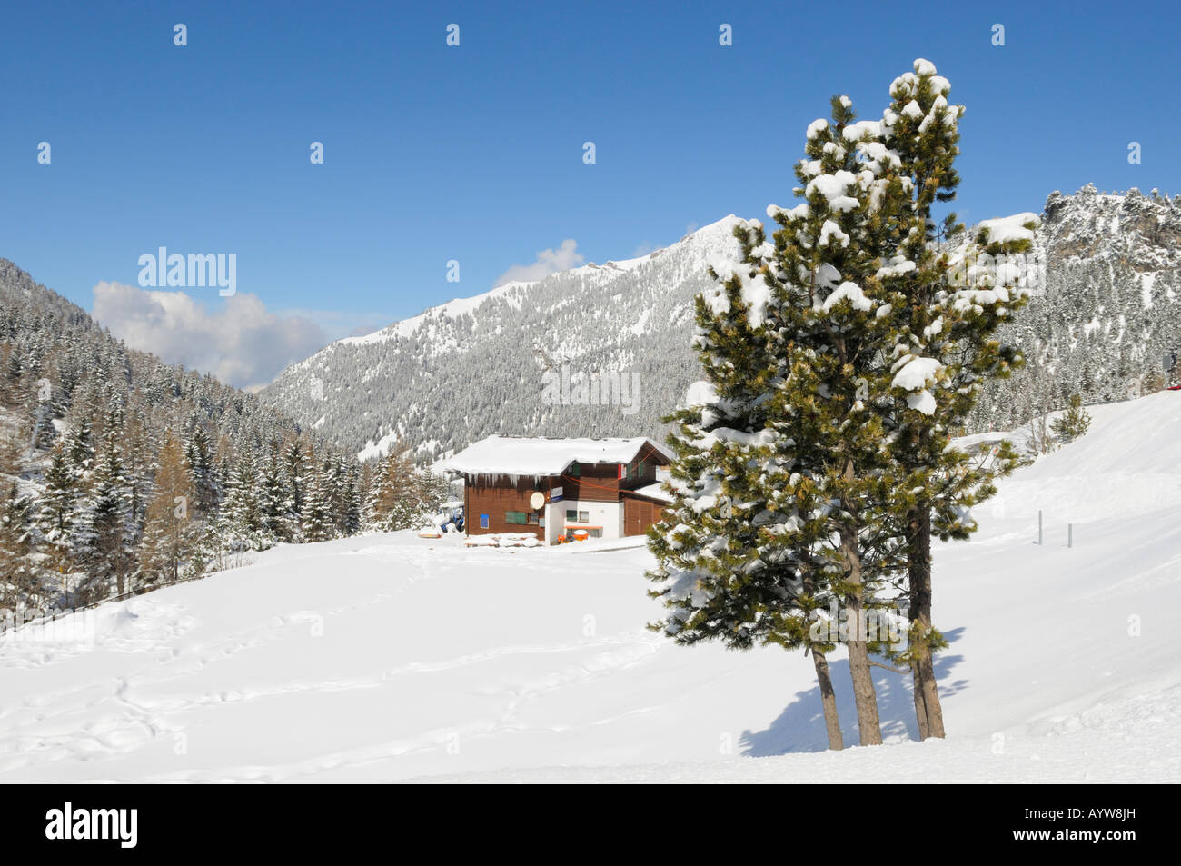 Winter Ski resort, Malbun FL - Stock Image