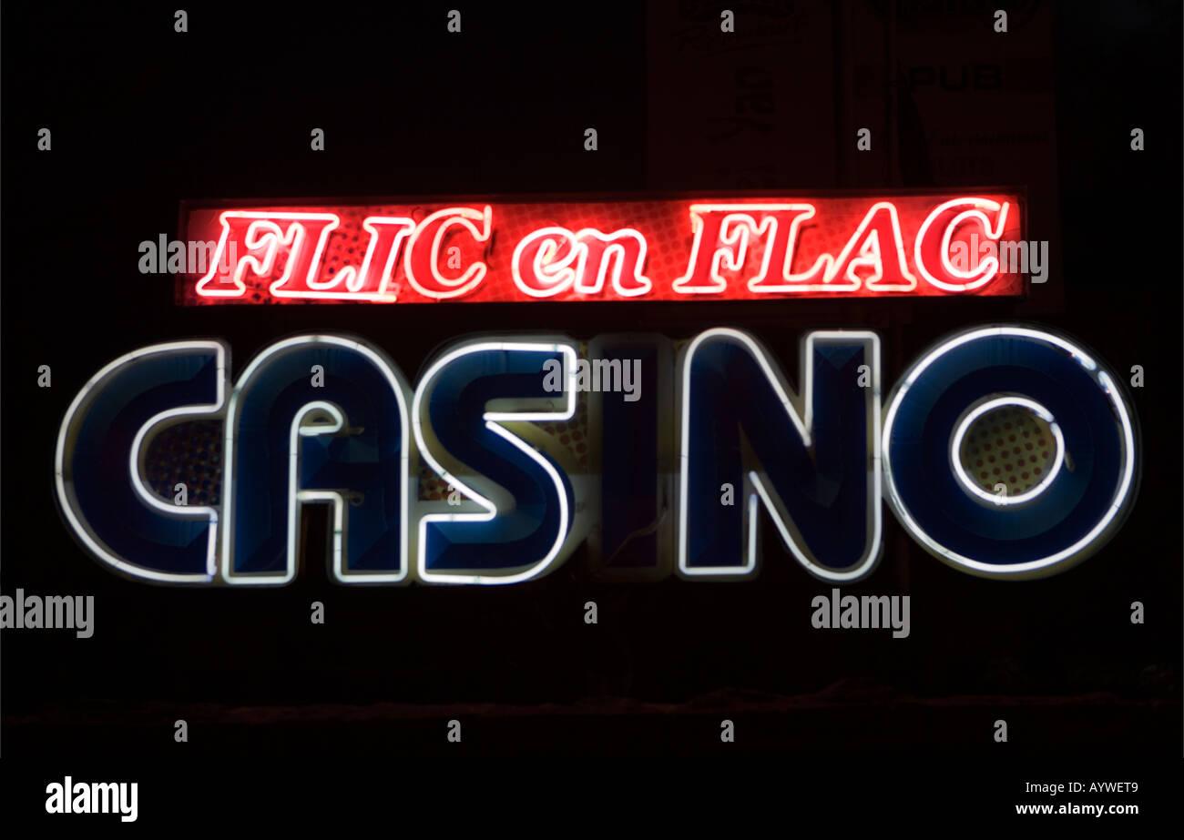 Casino sign Flic-en-Flac - Mauritius Stock Photo