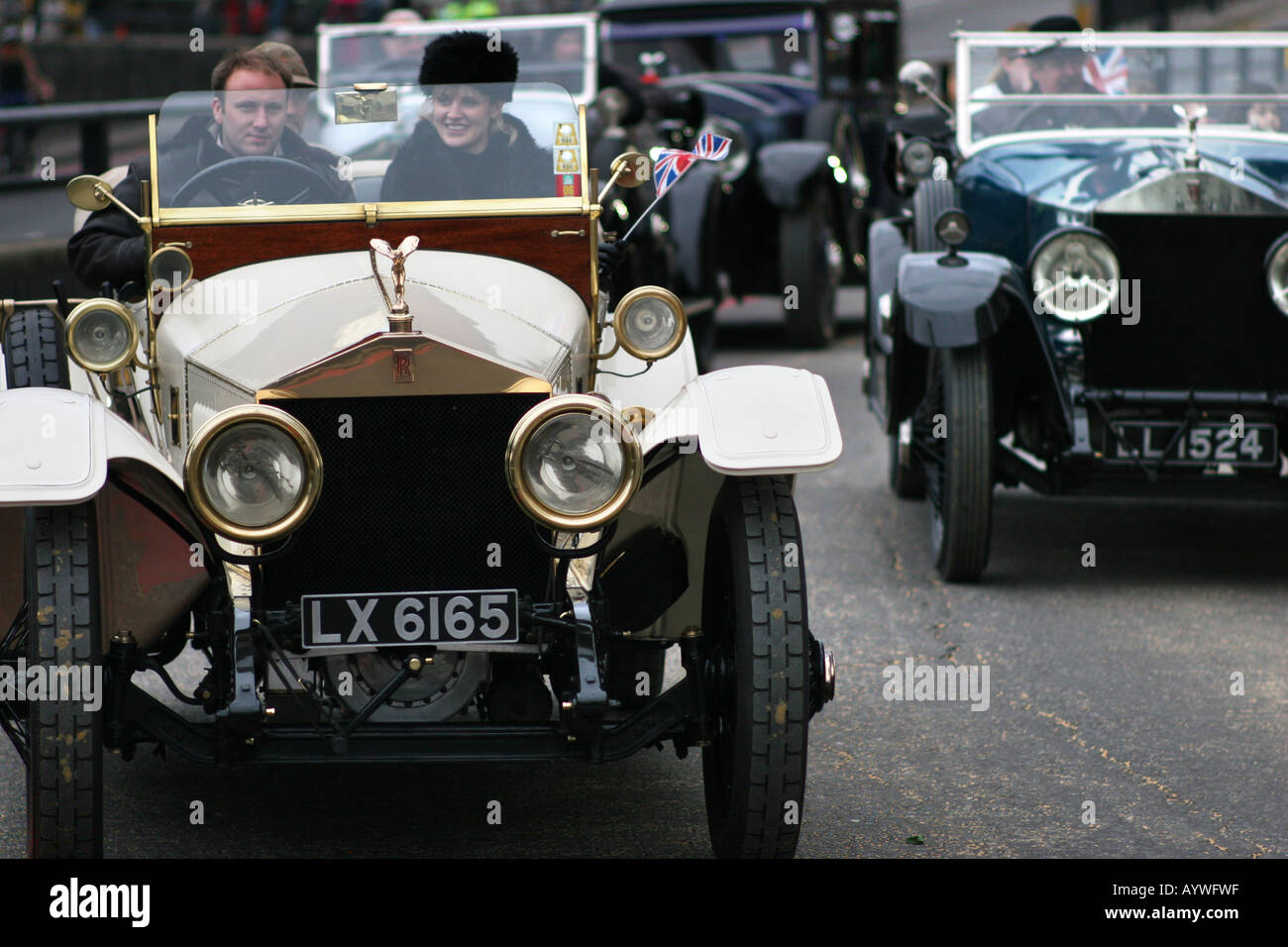 Rolls Royce Motor Cars Ltd at the Lord Mayors Parade in London UK - Stock Image