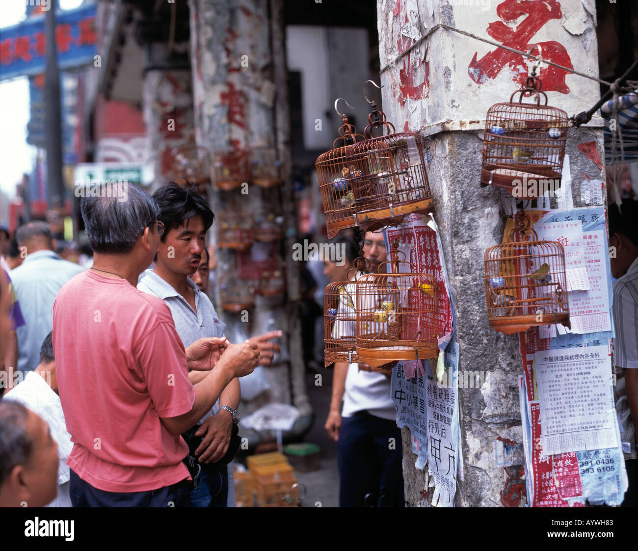 HK-Hong Kong, Kowloon, Bird Market Stock Photo
