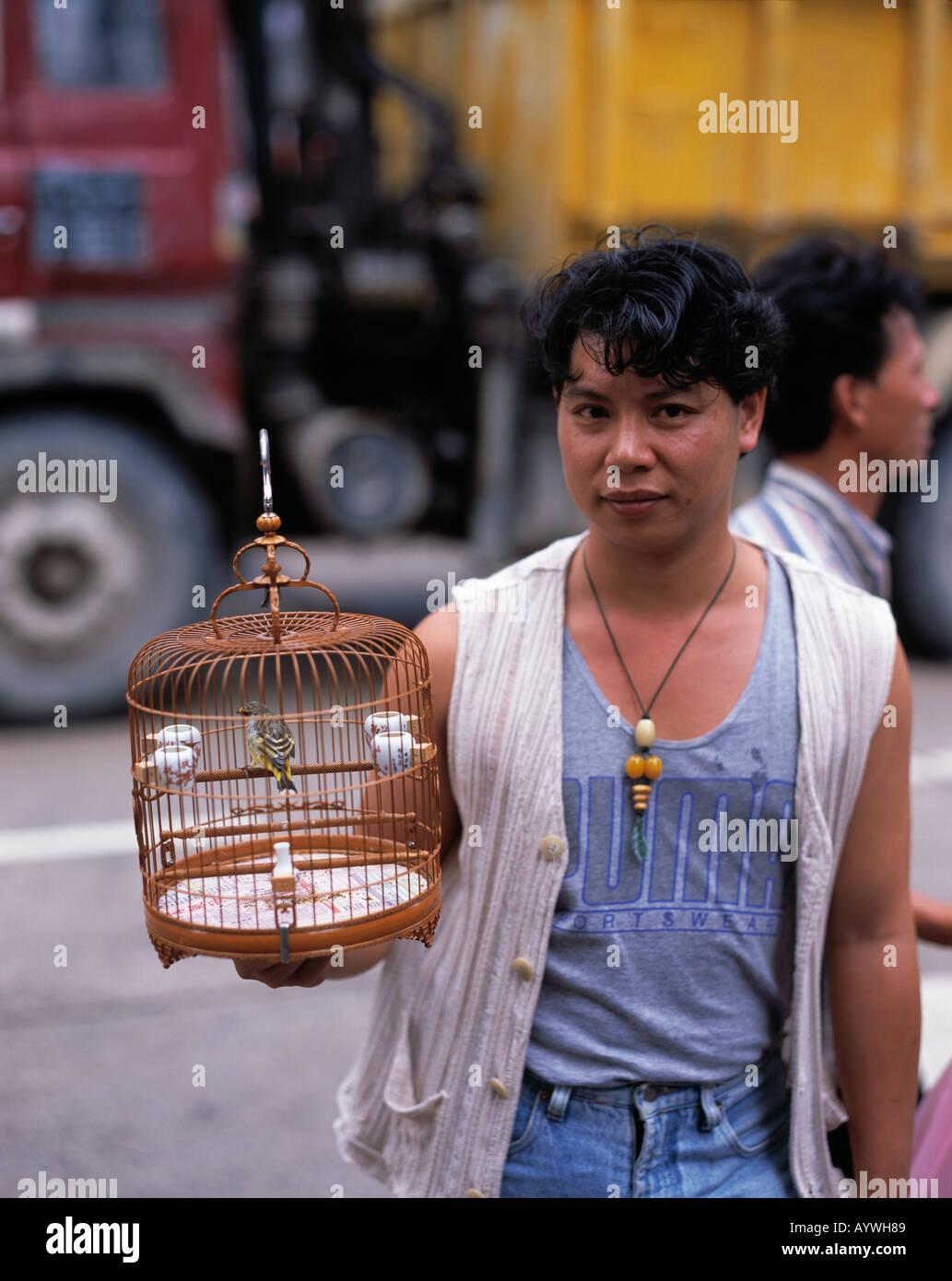 HK-Hong Kong, Kowloon, Bird Market Stock Photo
