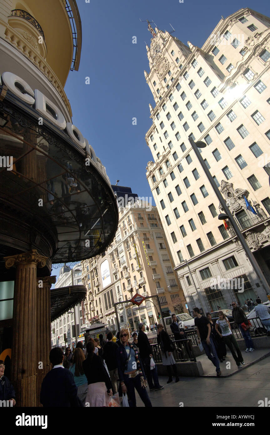 Spanien Madrid Gran Via capital - Stock Image