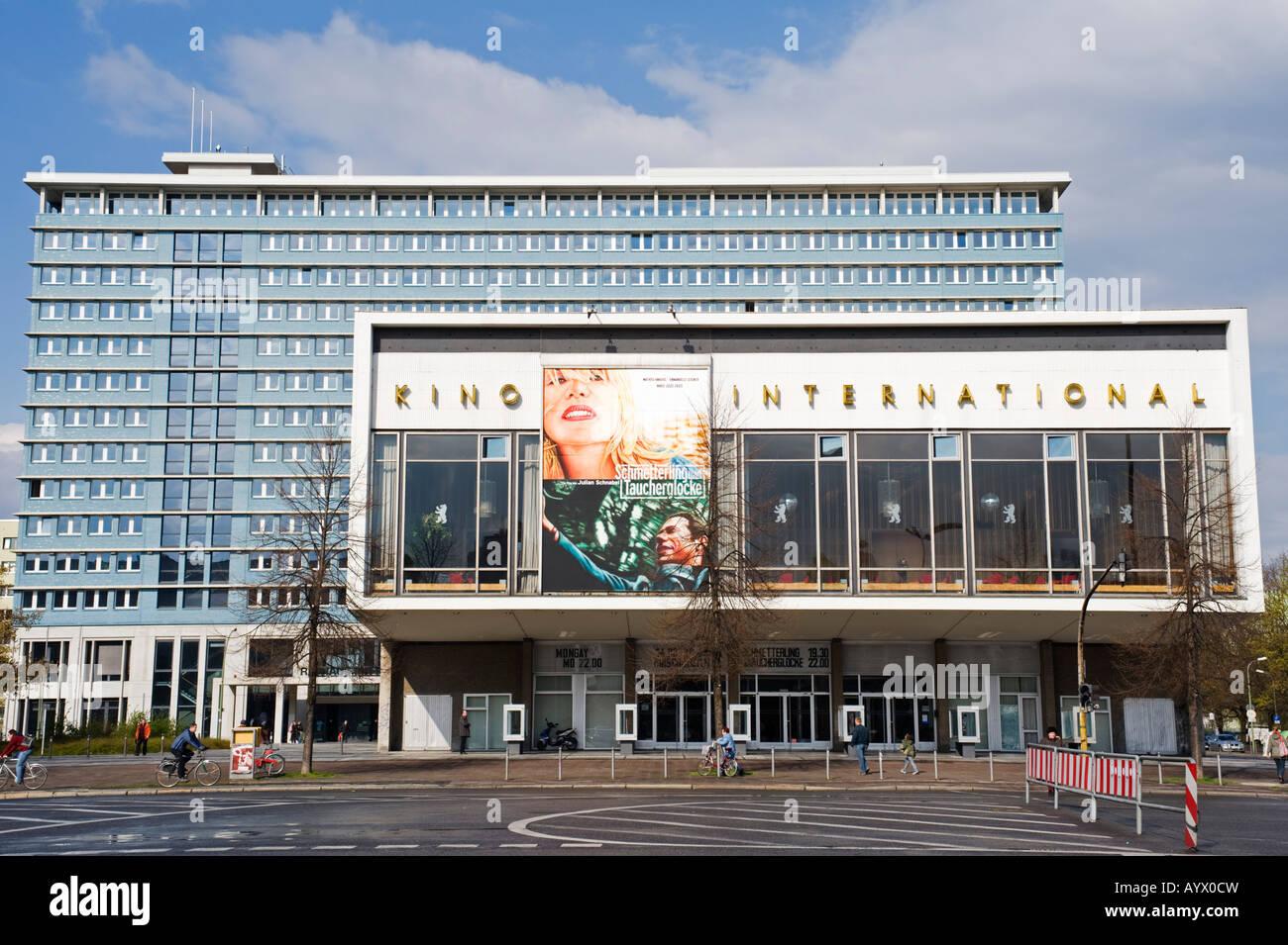 Famous former East German Kino International cinema on Karl Marx Allee in Berlin Germany 2008 - Stock Image