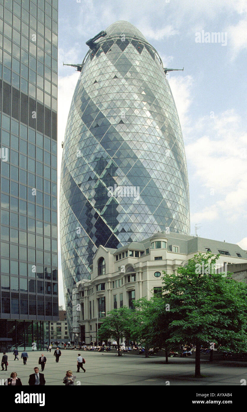 The Swiss Reinsurance Building, London, UK - Stock Image