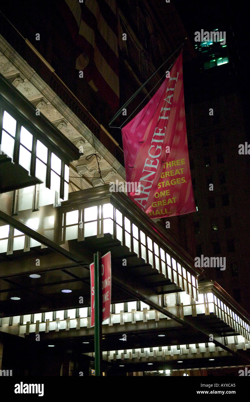 Spectators leave Carnegie Hall in New York USA after a show February 2005 - Stock Image