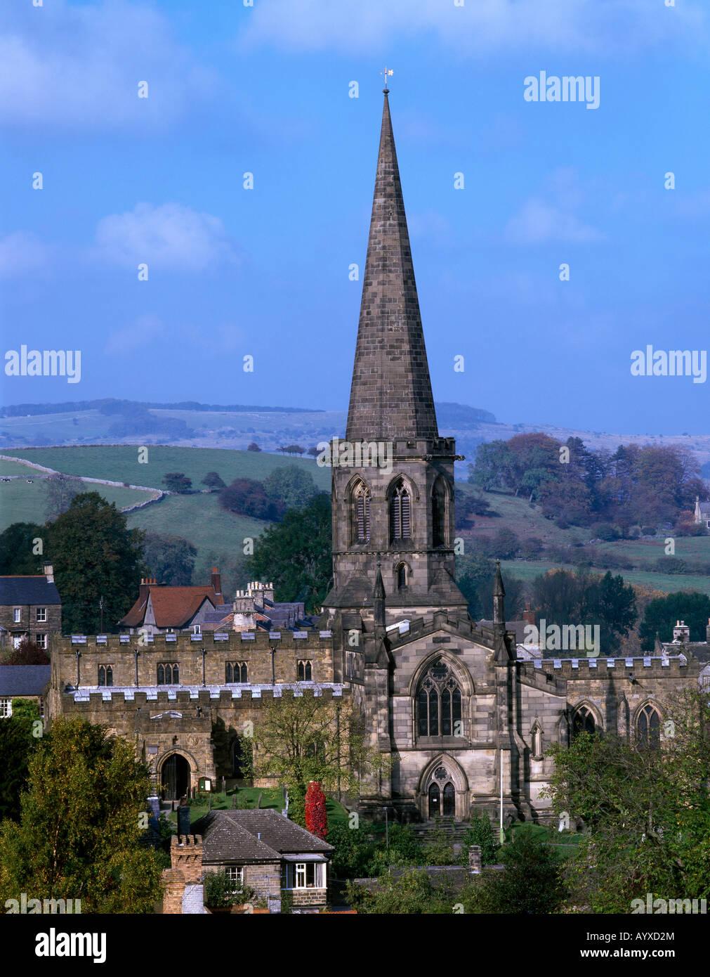 All Saints Church Bakewell Derbyshire England United Kingdom - Stock Image