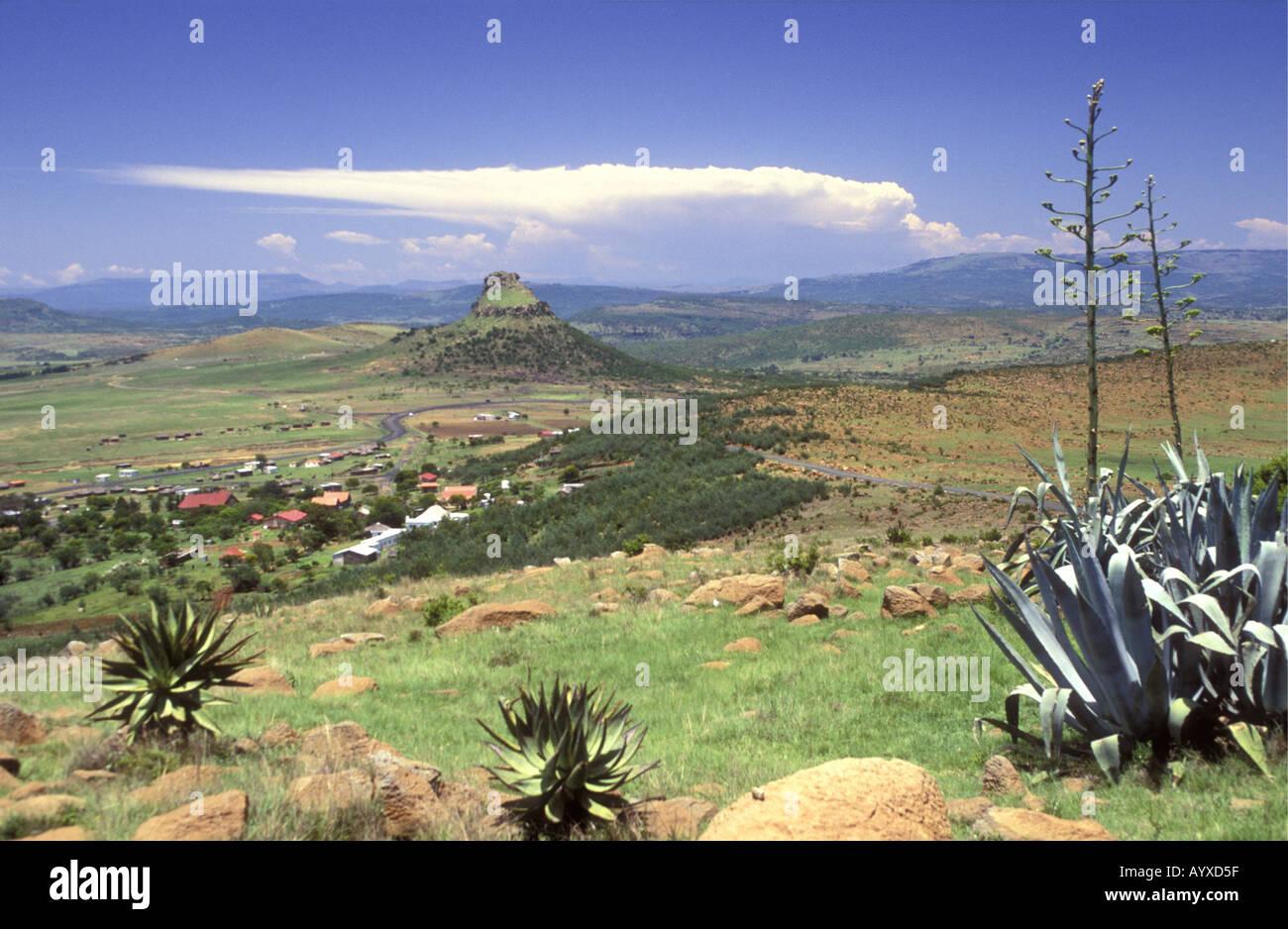 Isandlwana battlefield Natal South Africa - Stock Image