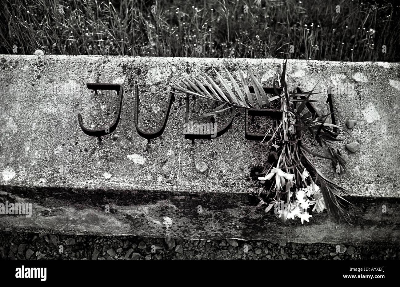 GERMANY NORDHAUSEN MITTELBAU DORA CONCENTRATION CAMP V1 V2 NAZI CATTLE WAGON WW11 WW2 JUDEN JEW LOSS - Stock Image