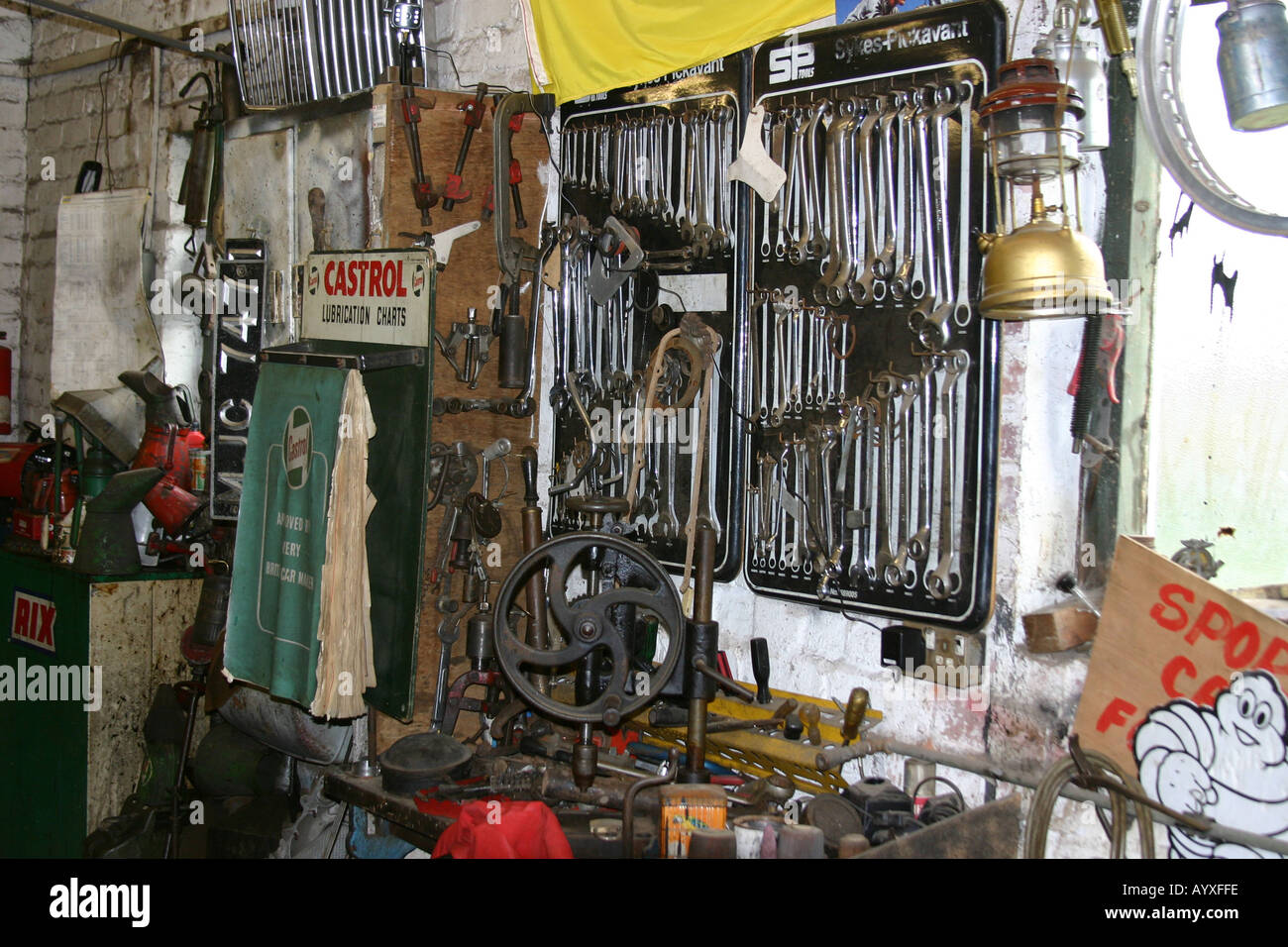 Part Of Interior Of Old Garage Workshop Used As Scripps Garage In The Stock Photo Alamy