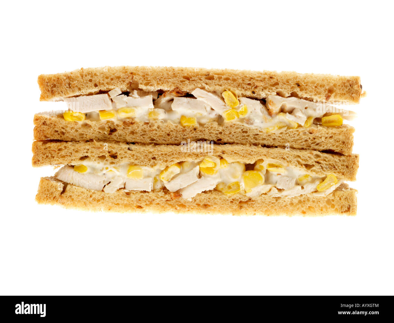 Chicken and Sweetcorn Sandwich - Stock Image