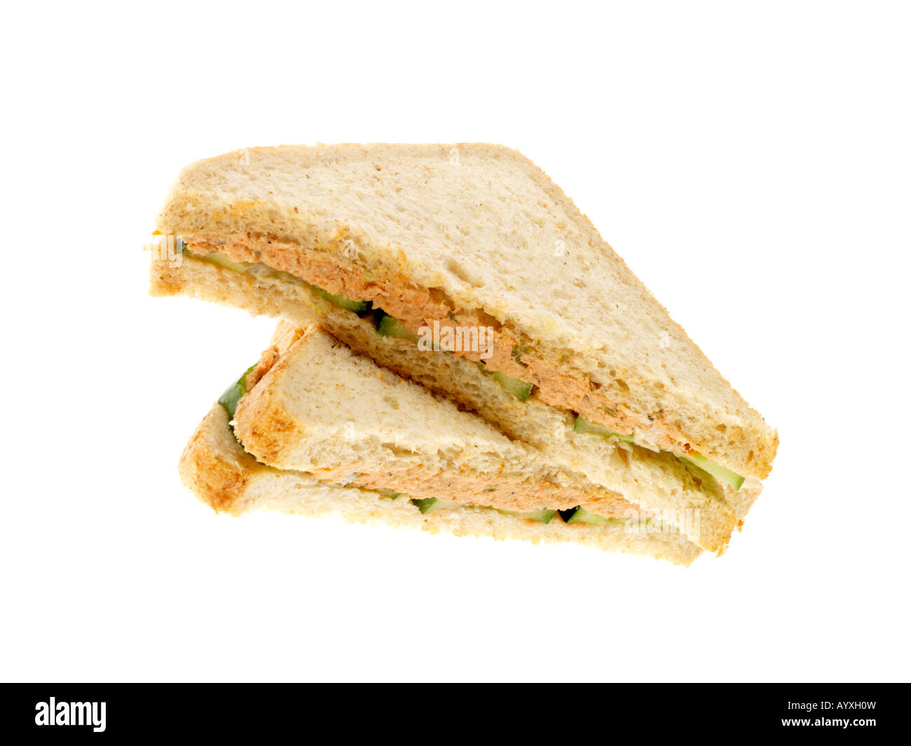 Salmon and Cucumber Sandwich - Stock Image