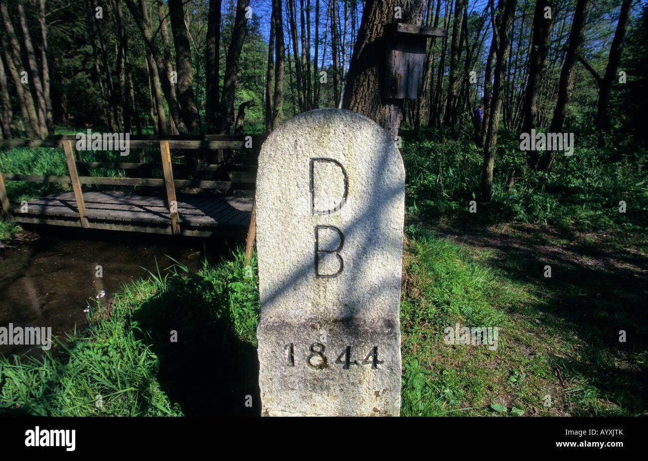GERMANY DREILANDERECK DDR WEST GERMANY MEET CZECH REPUBLIC BORDER 3 THREE - Stock Image
