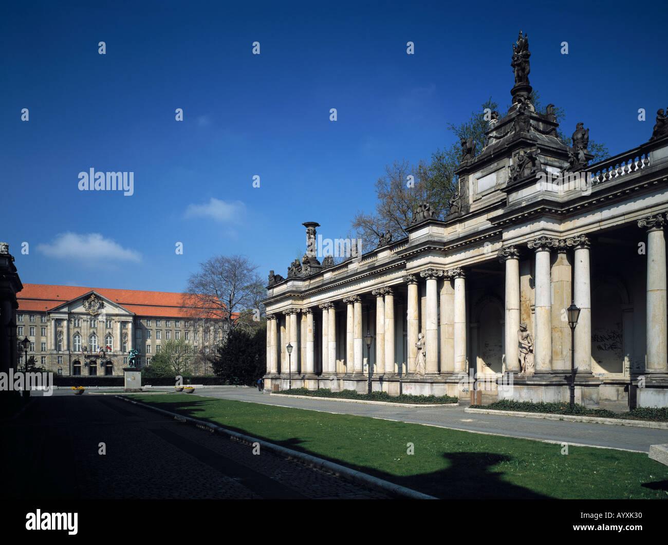 Gebaeude vom Kontrollrat der Alliierten in Berlin, Koenigskolonnaden, Berlin - Stock Image