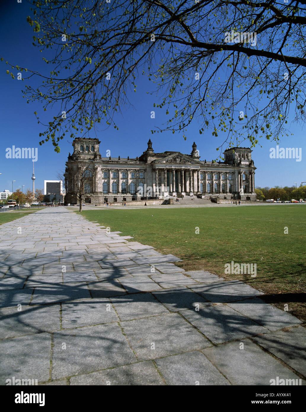 Reichstagsgebaeude, Berlin - Stock Image